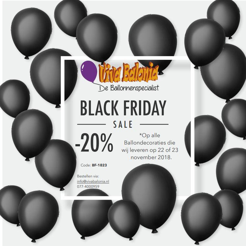 Black Friday sale Ballondecoratie